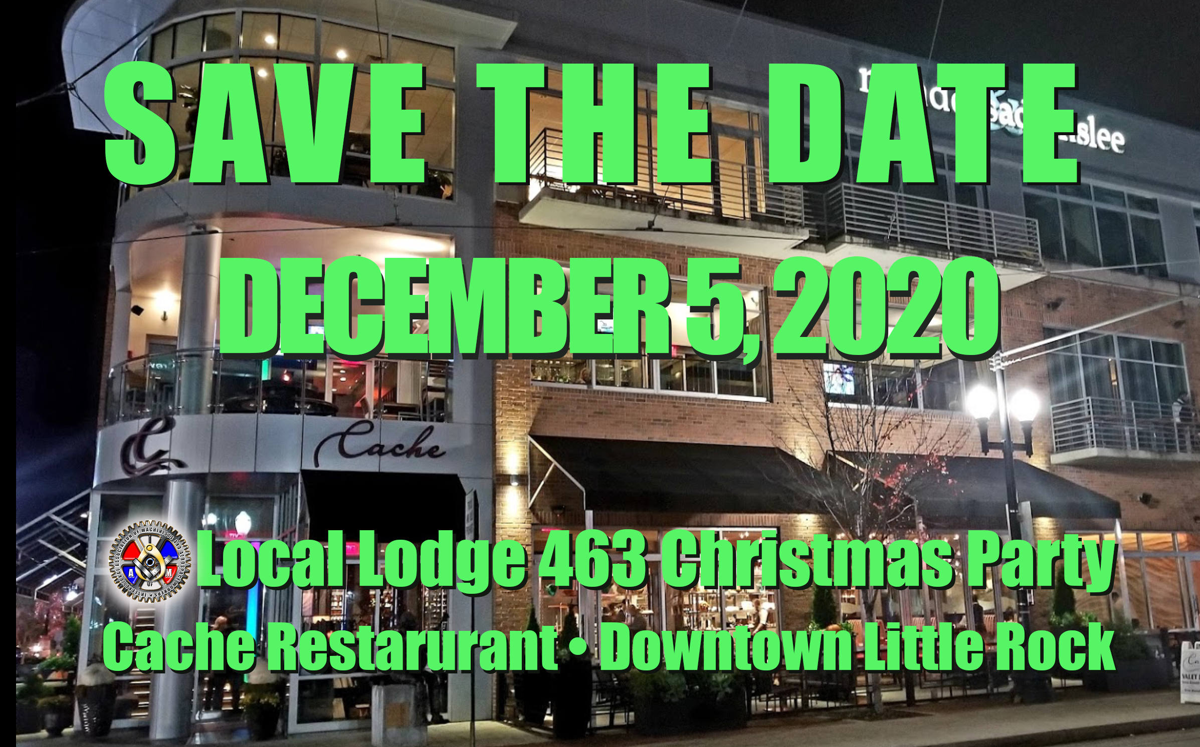 SAVE THE DATE: 2020 Local Lodge Christmas Party – IAMAW Local